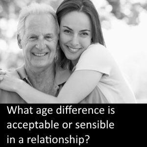 acceptable age difference for dating
