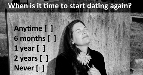 When is it time to start dating again